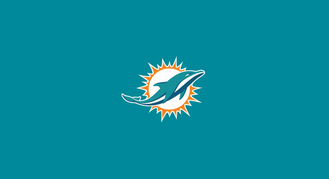 MIAMI DOLPHINS POOL TABLE FELT