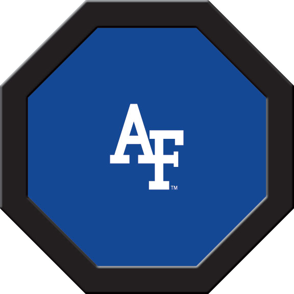 Air Force Falcons Felt On 50″ Octagon Game Table (A)