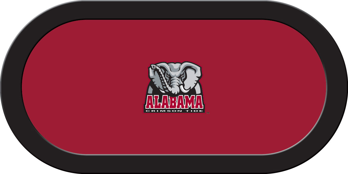 Alabama Crimson Tide – Texas Hold'em Felt (B)