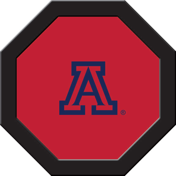 Arizona Wildcats Felt On 50″ Octagon Game Table (C)