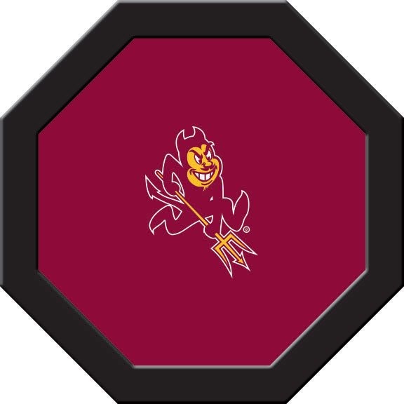 Arizona State Sun Devils Felt On 50″ Octagon Game Table (C)