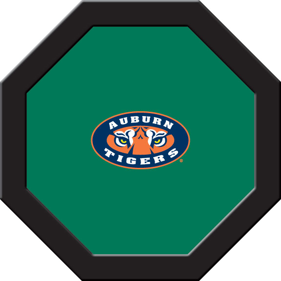 Auburn Tigers Felt On 50″ Octagon Game Table (A)