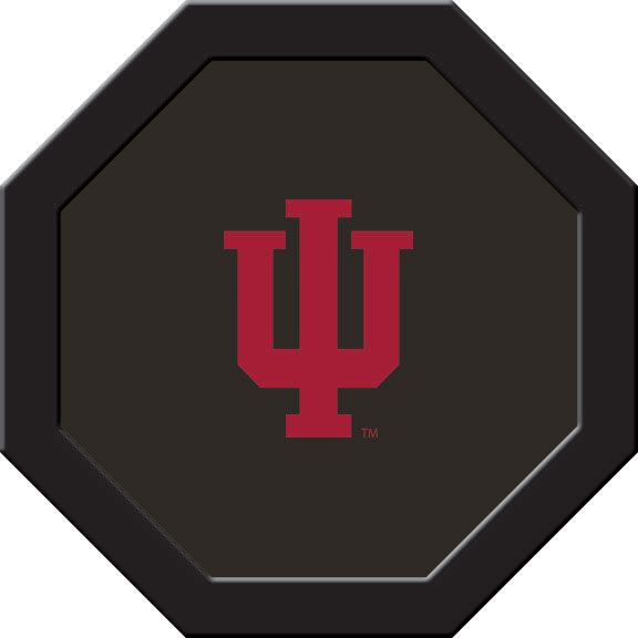 Indiana Hoosiers Felt On 50″ Octagon Game Table (A)