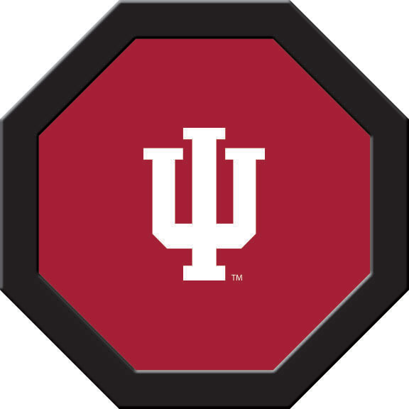 Indiana Hoosiers Felt On 50″ Octagon Game Table (B)