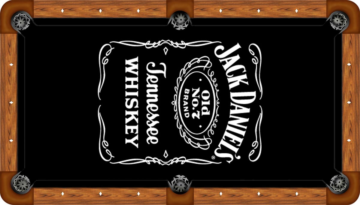 Jack Daniels Pool Table Felt