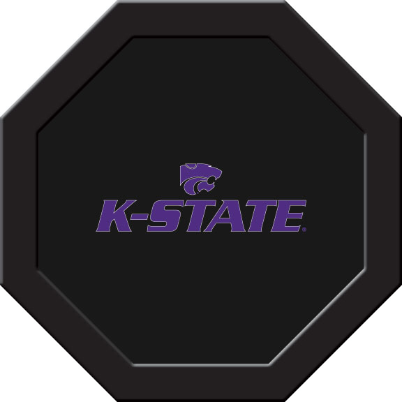 Kansas State Wildcats Felt On 50″ Octagon Game Table (C)