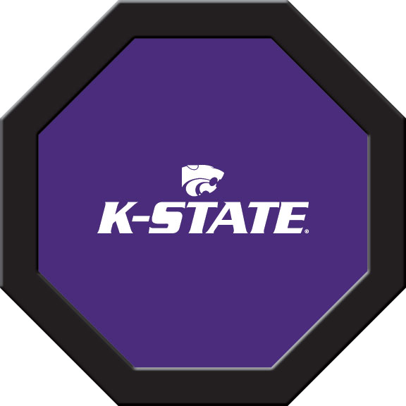Kansas State Wildcats Felt On 50″ Octagon Game Table (D)