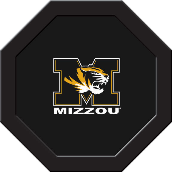 Missouri Tigers Felt On 50″ Octagon Game Table (A)