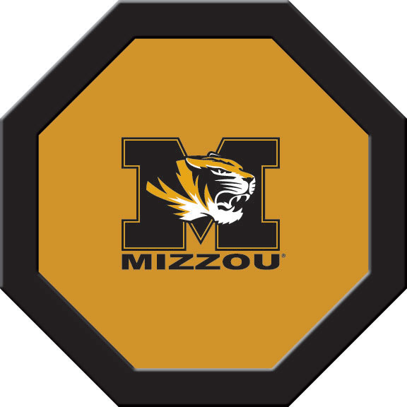 Missouri Tigers Felt On 50″ Octagon Game Table (B)
