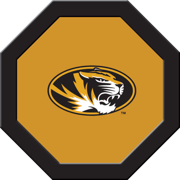 Missouri Tigers Felt On 50″ Octagon Game Table (C)