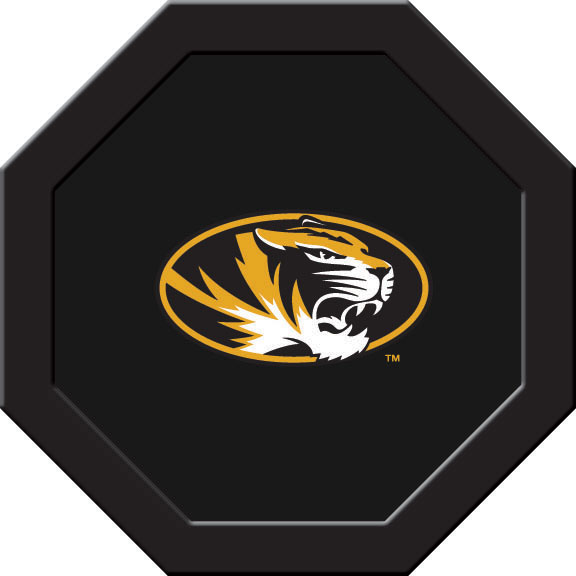 Missouri Tigers Felt On 50″ Octagon Game Table (D)