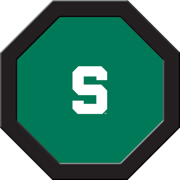 Michigan State Spartans Felt On 50″ Octagon Game Table (A)