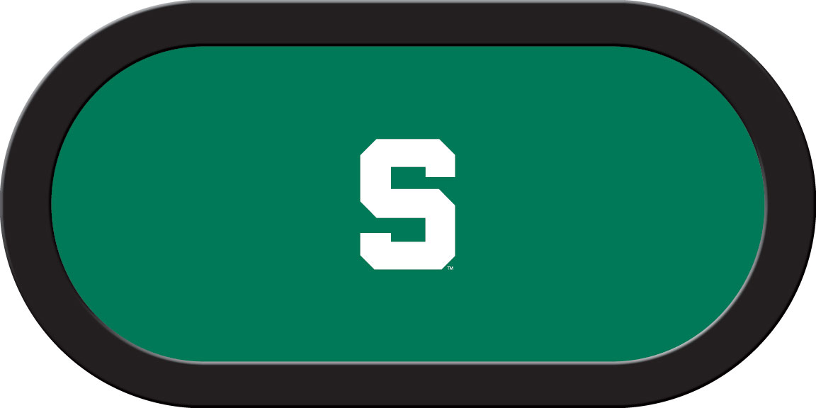 Michigan State Spartans – Texas Hold'em Felt (A)