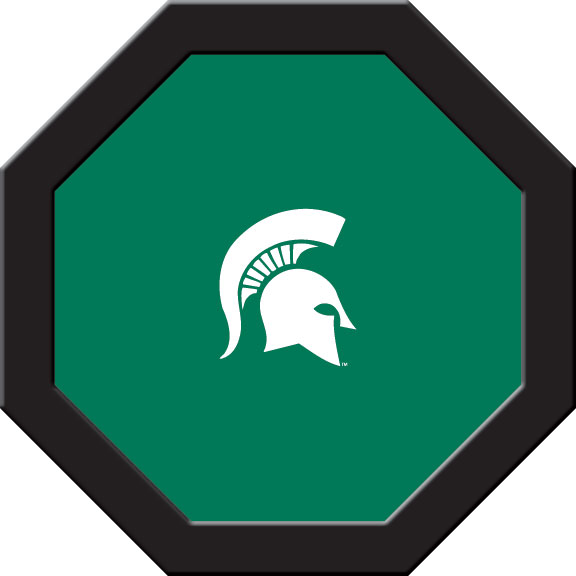 Michigan State Spartans Felt On 50″ Octagon Game Table (B)