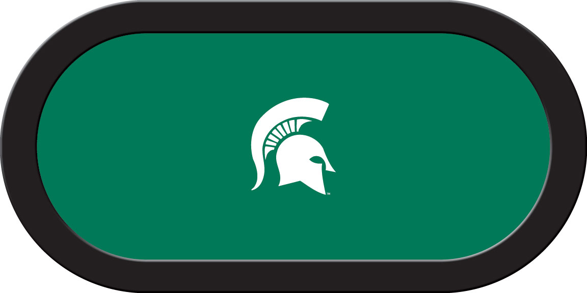 Michigan State Spartans – Texas Hold'em Felt (B)