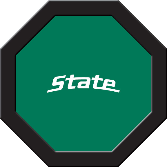 Michigan State Spartans Felt On 50″ Octagon Game Table (C)