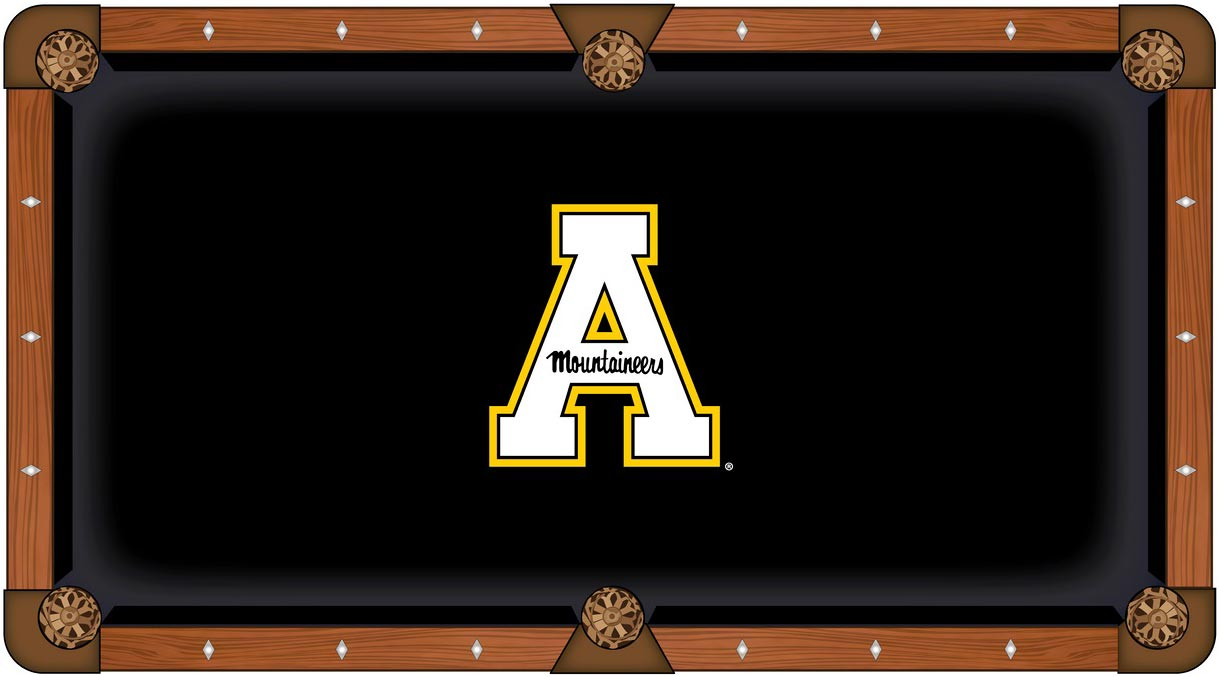 Appalachian State Mountaineers Pool Table Felt