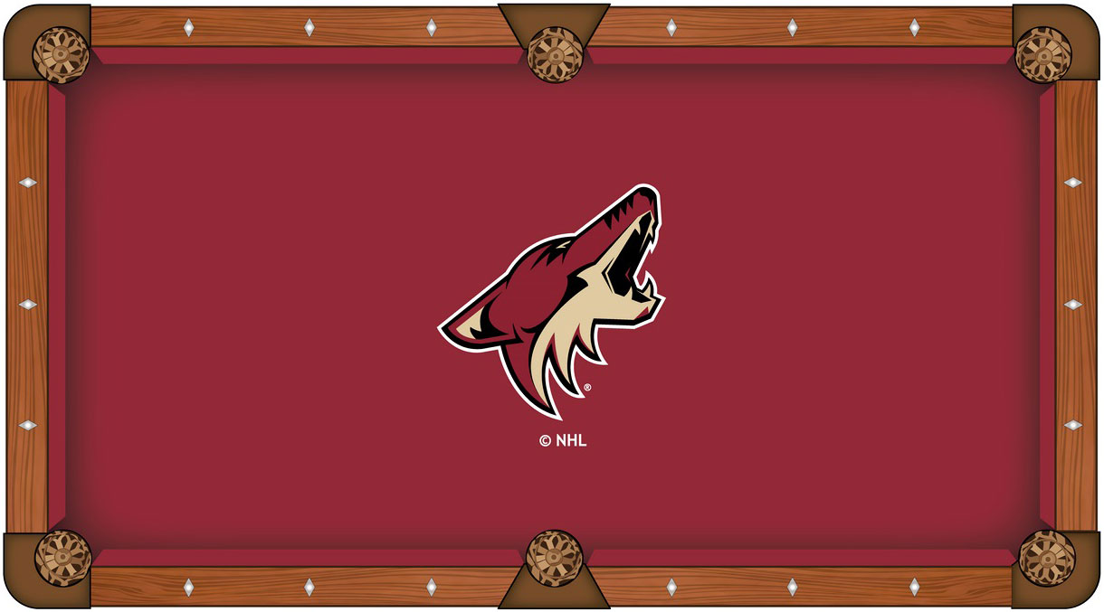 Arizona Coyotes Pool Table Felt