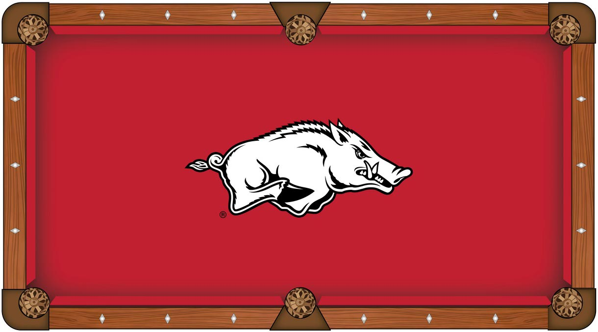 Arkansas Razorback Pool Table Felt