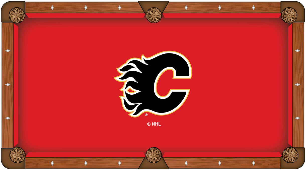 Calgary Flames Pool Table Felt
