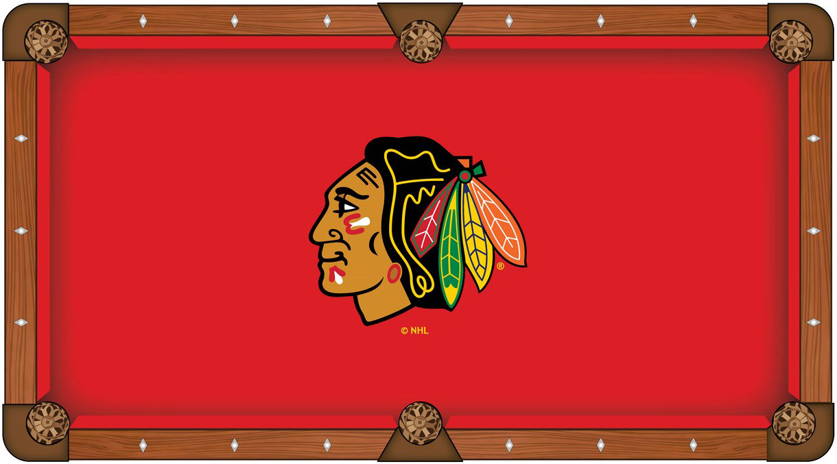Chicago Blackhawks Pool Table Felt