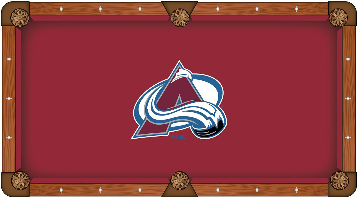 Colorado Avalanche Pool Table Felt