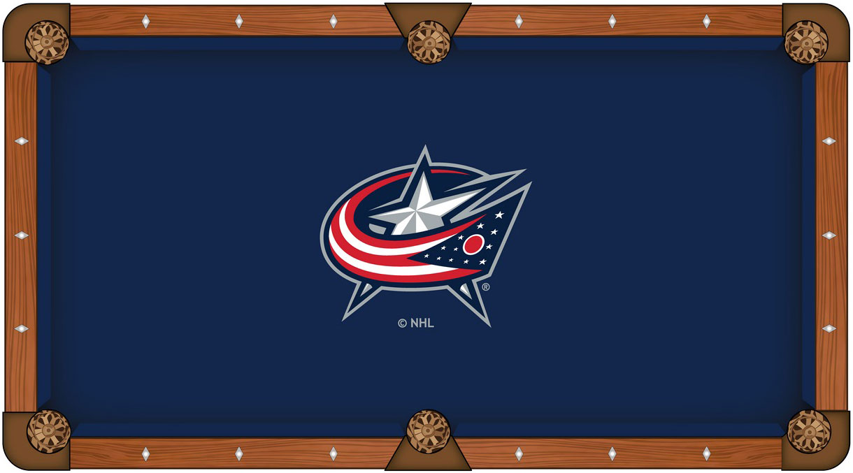 Columbus Blue Jackets Pool Table Felt