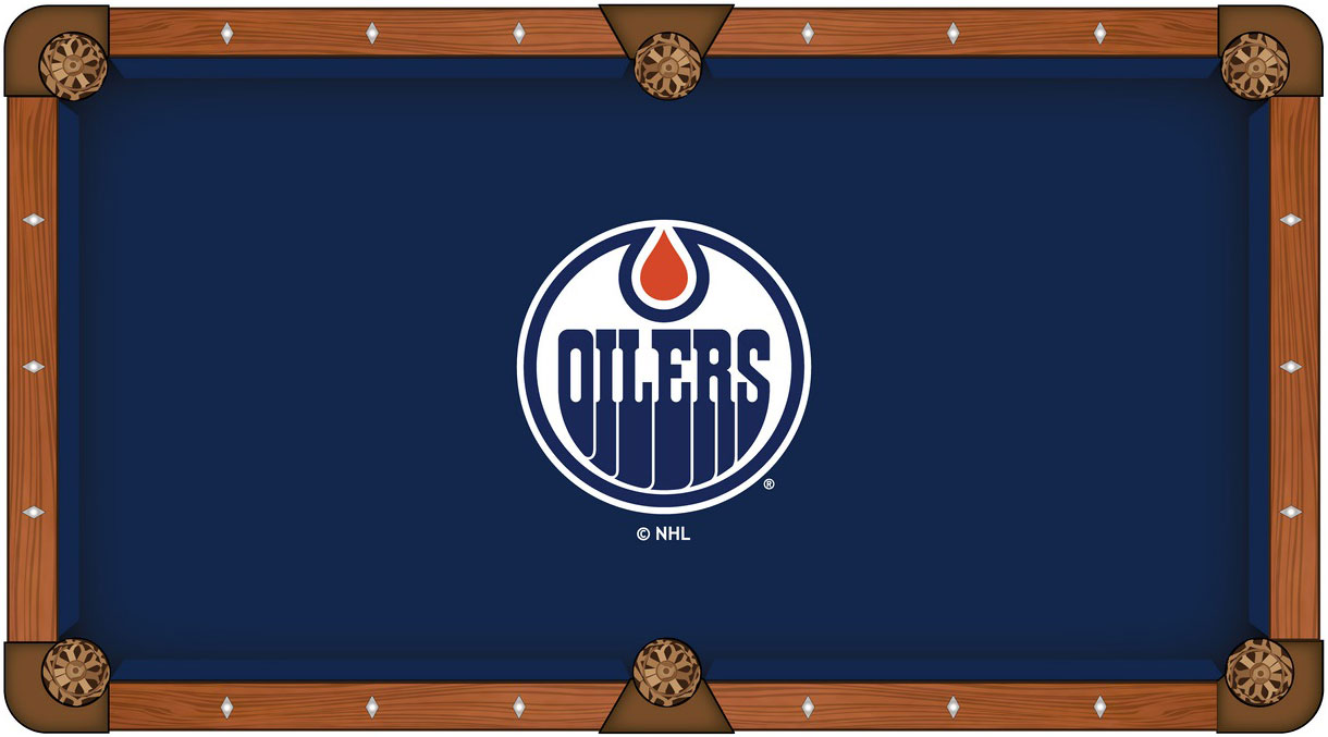 Edmonton Oiler Pool Table Felt