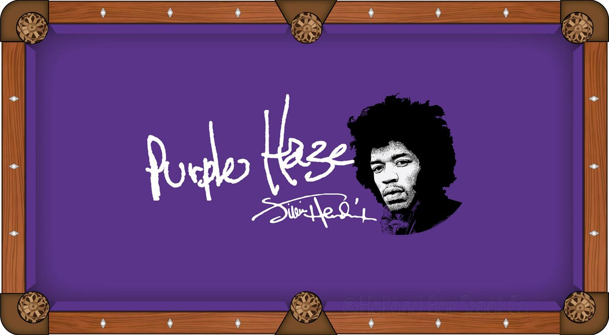 Jimi Hendrix Purple Haze Pool Table