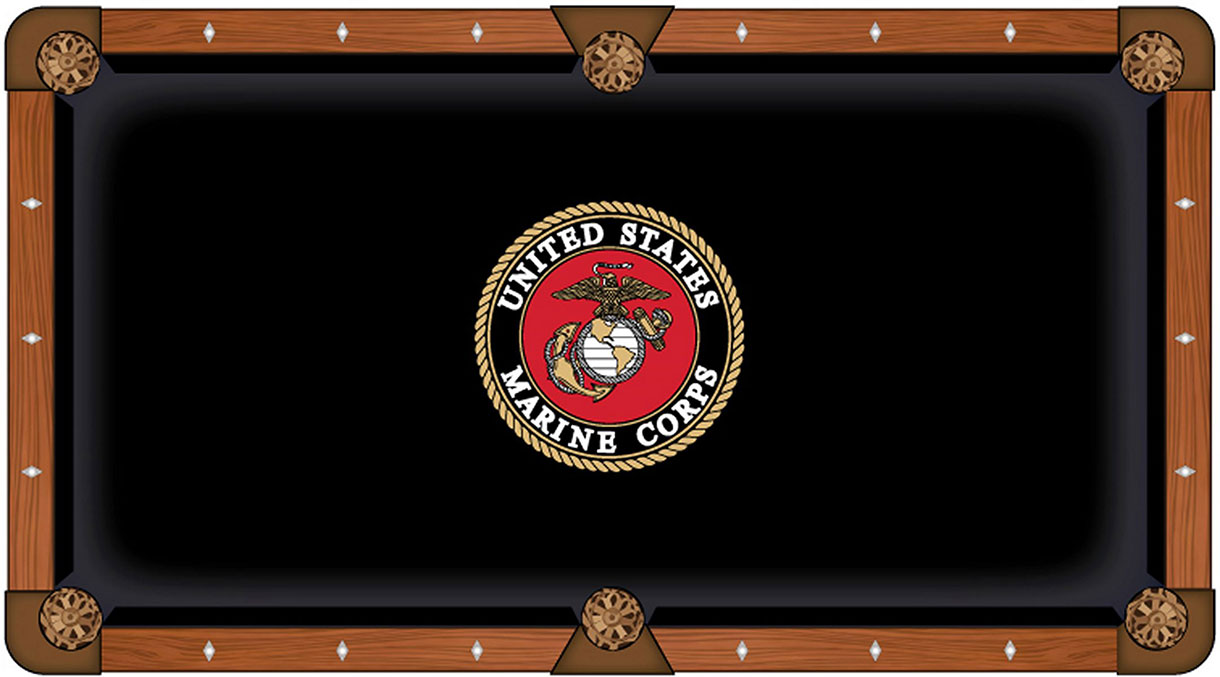USMC Emblem Pool Table Felt