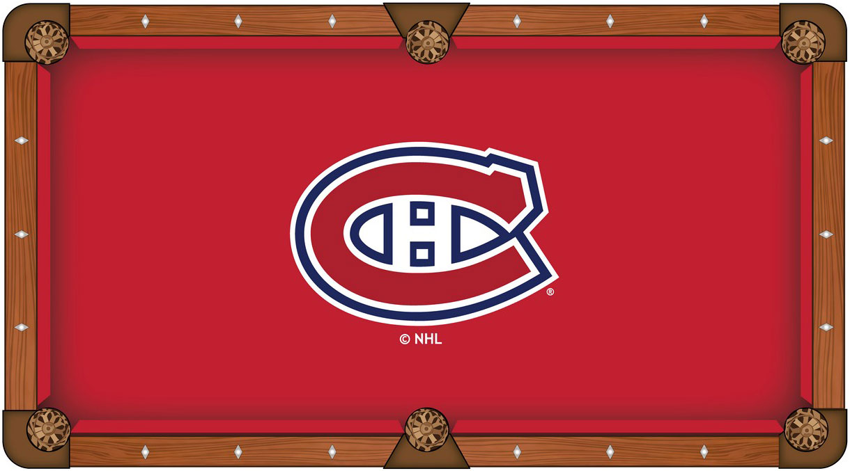 Montreal Canadians Pool Table Felt