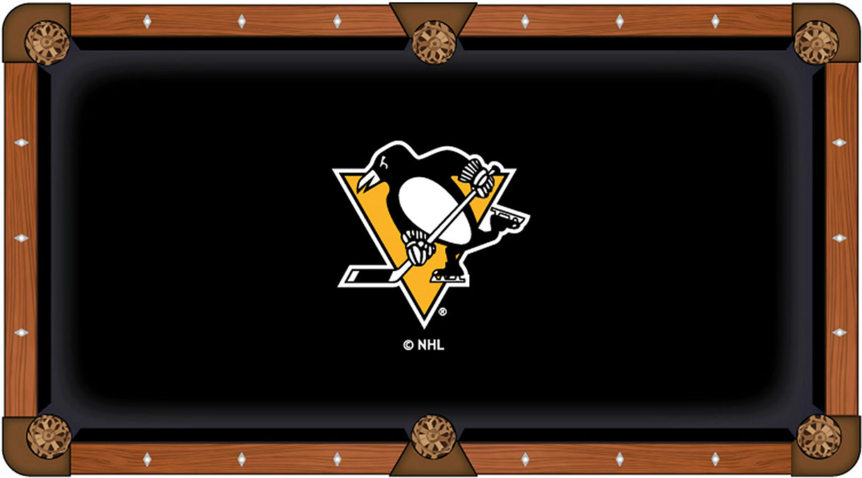 Pittsburgh Penguins Pool Table Felt