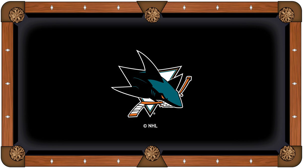 San Jose Sharks Pool Table Felt