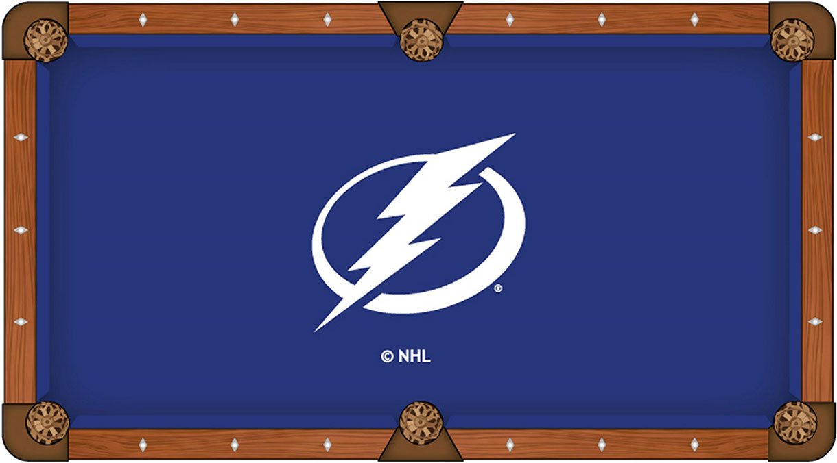 Tampa Bay Lightning Pool Table Felt