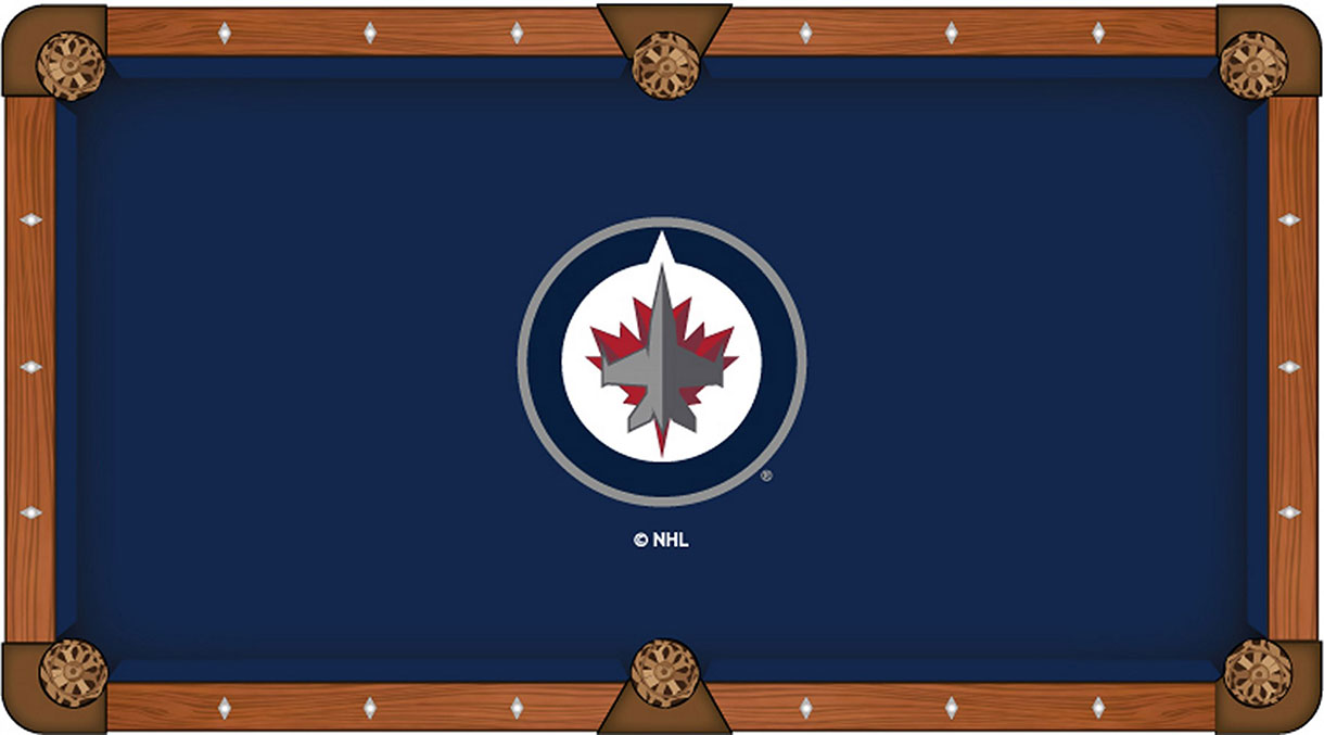 Winnipeg Jets Pool Table Felt