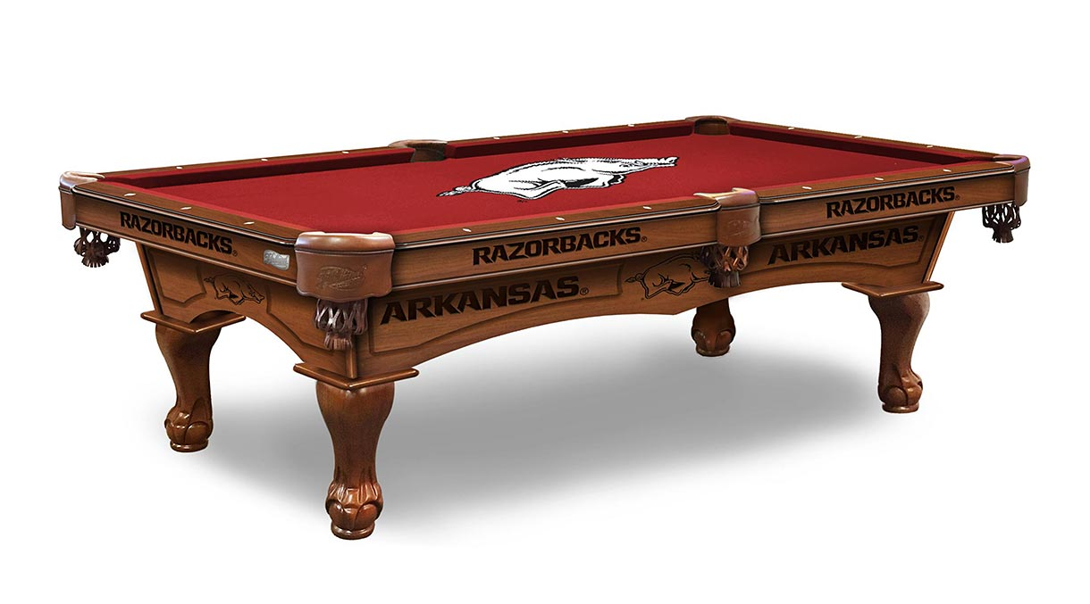 Arkansas Razorbacks Logo Pool Table