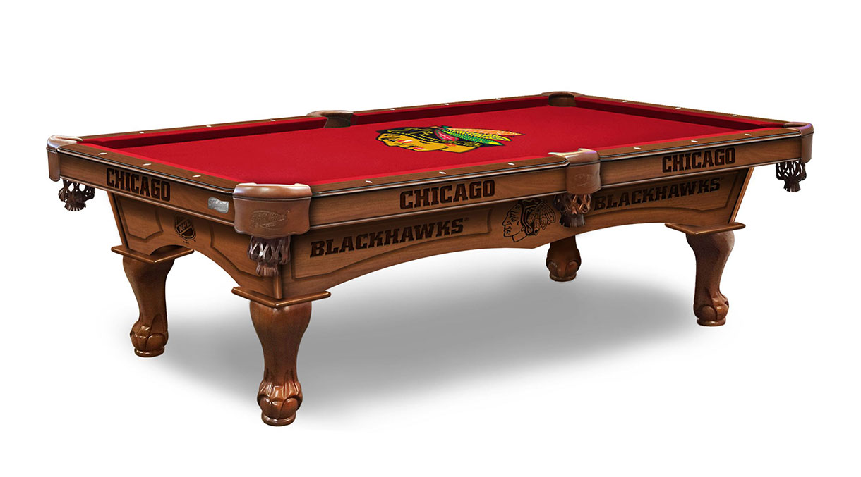 Chicago Blackhawks Logo Pool Table