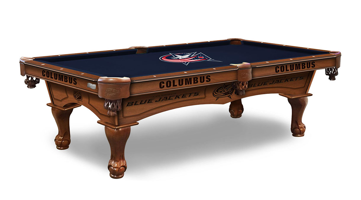 Columbus Blue Jackets Logo Pool Table