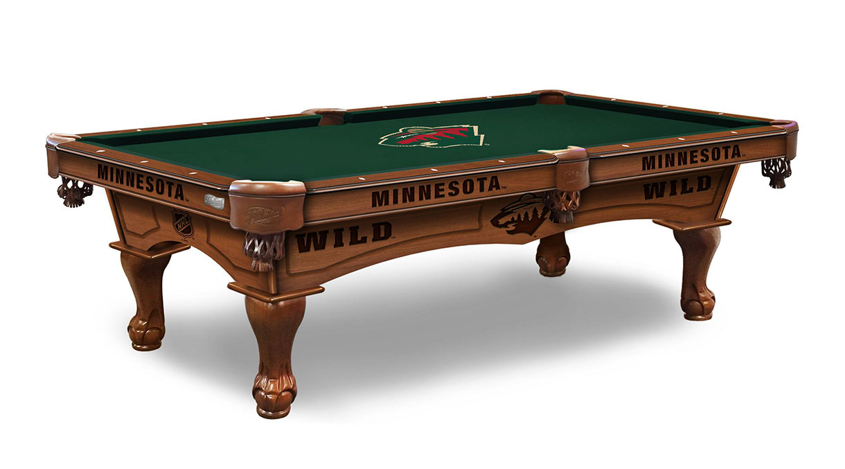 Minnesota Wild Logo Pool Table