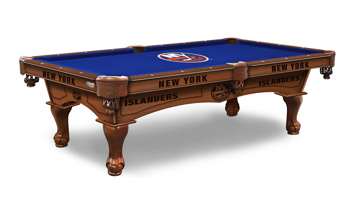New York Islanders Logo Pool Table