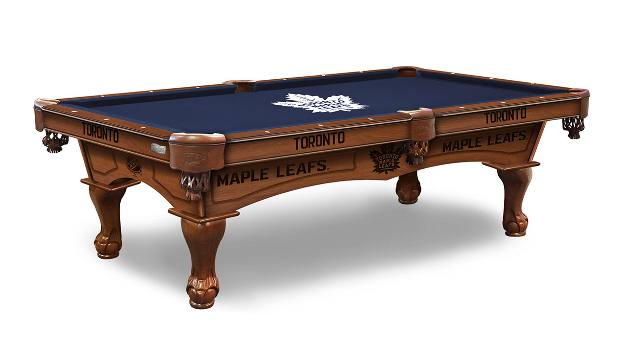 Toronto Maple Leafs Logo Pool Table