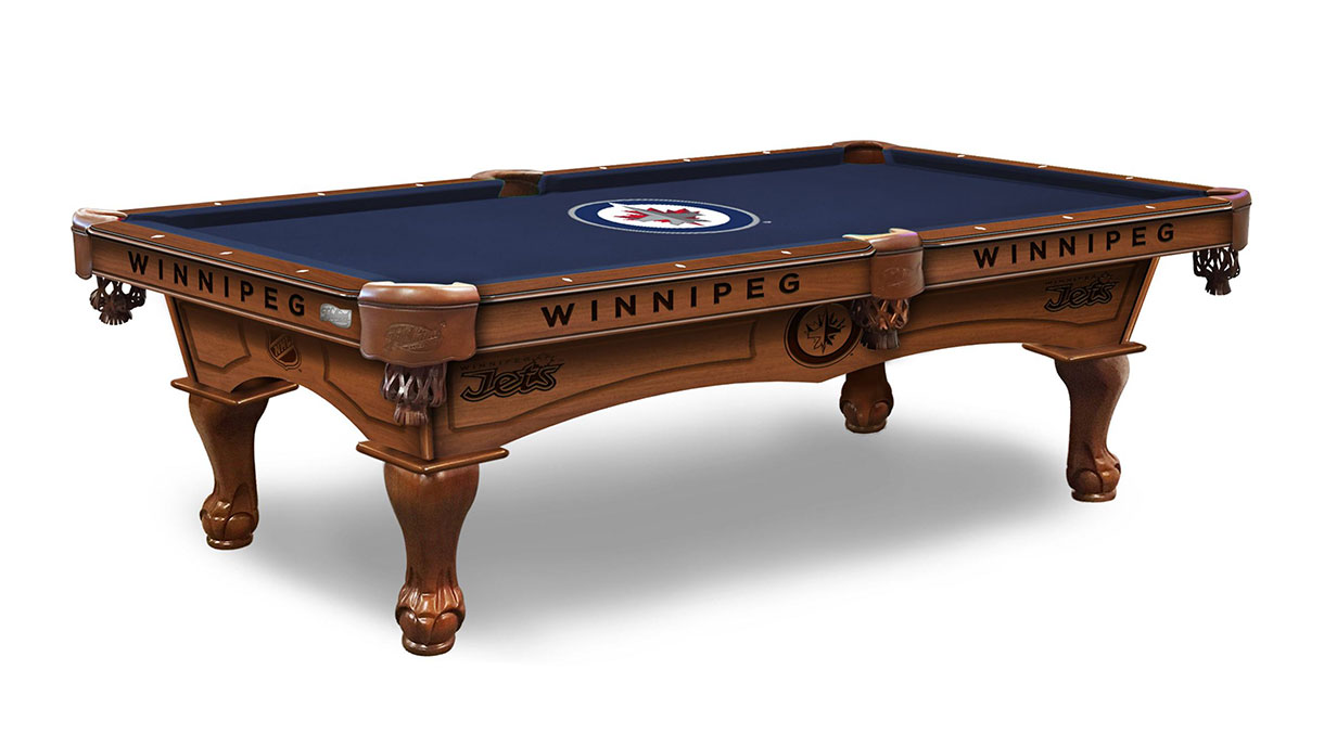 Winnipeg Jets Logo Pool Table