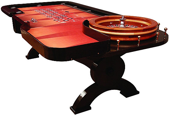 Custom Professional Roulette Table And Wheel