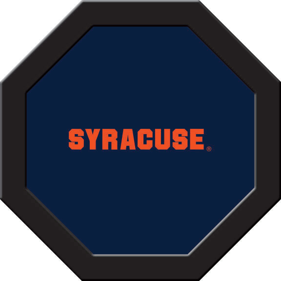Syracuse Orange Felt On 50″ Octagon Game Table (C)