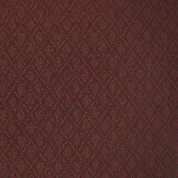 Suited Poker Table Felt – Burgundy