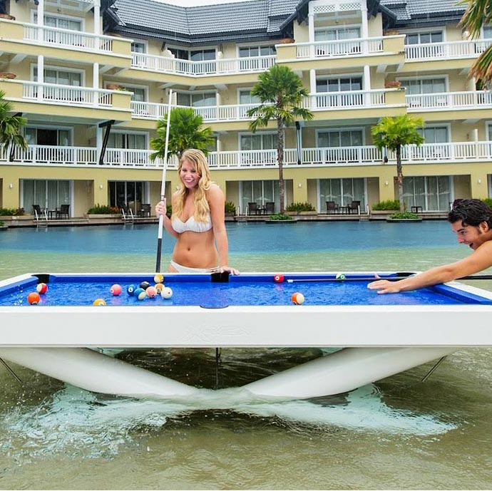 Outdoor Pool Table At Resort