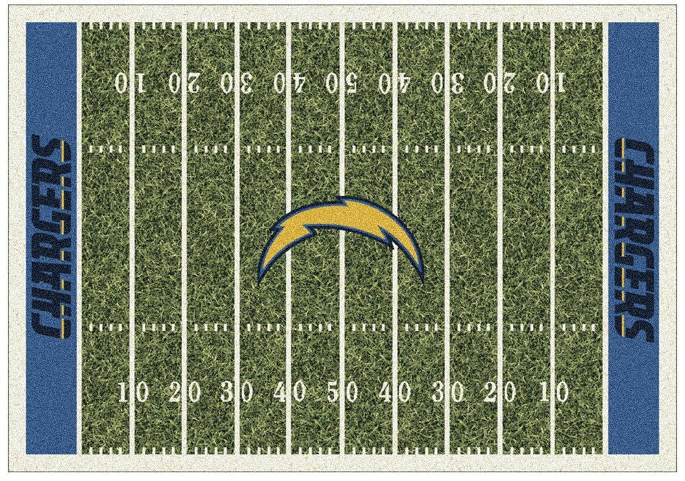 LOS ANGELES CHARGERS HOMEFIELD RUG