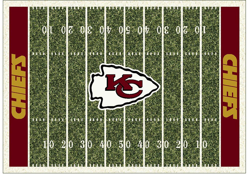 KANSAS CITY CHIEFS HOMEFIELD RUG