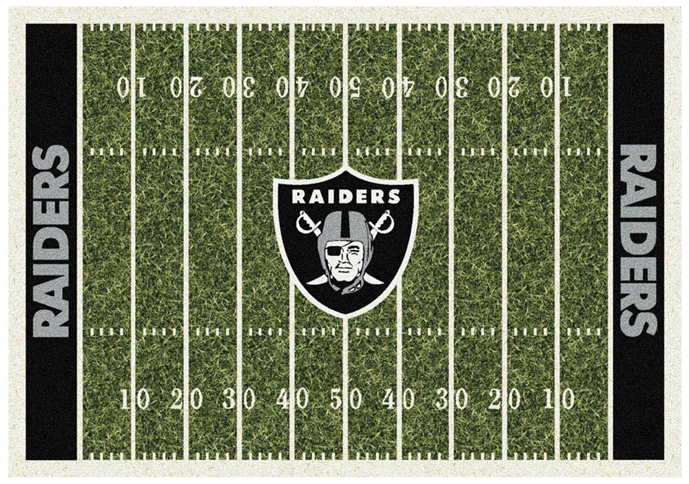 OAKLAND RAIDERS HOMEFIELD RUG