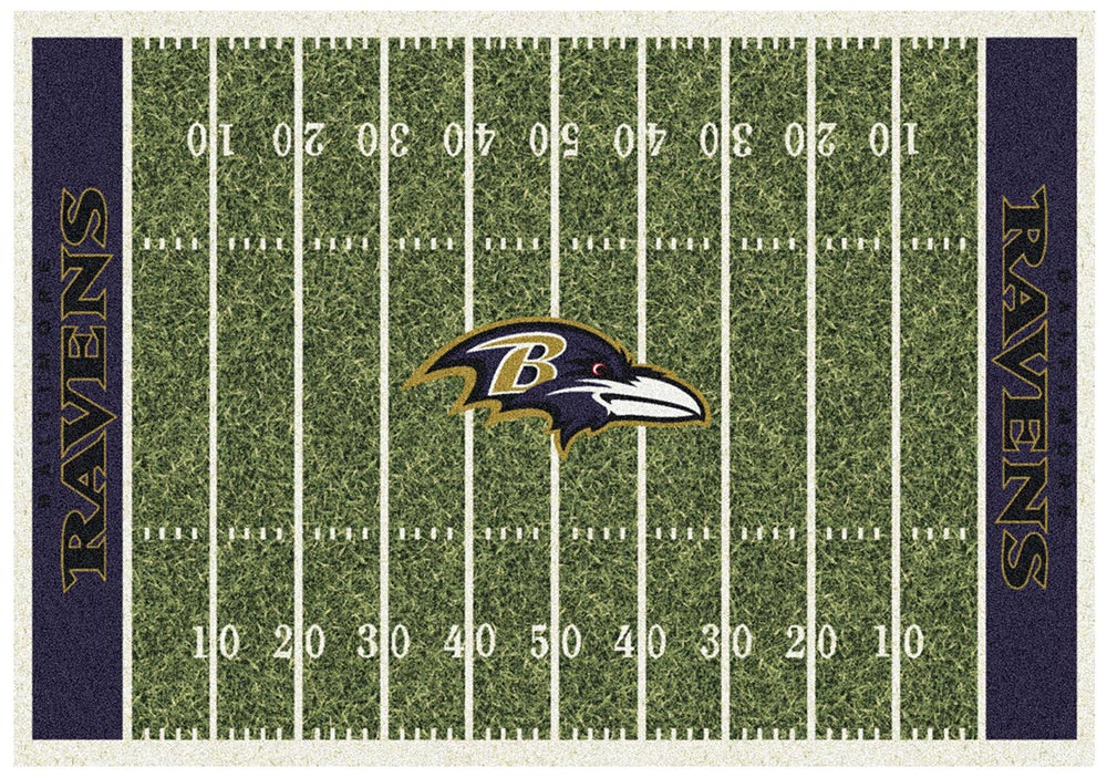 BALTIMORE RAVENS HOMEFIELD RUG